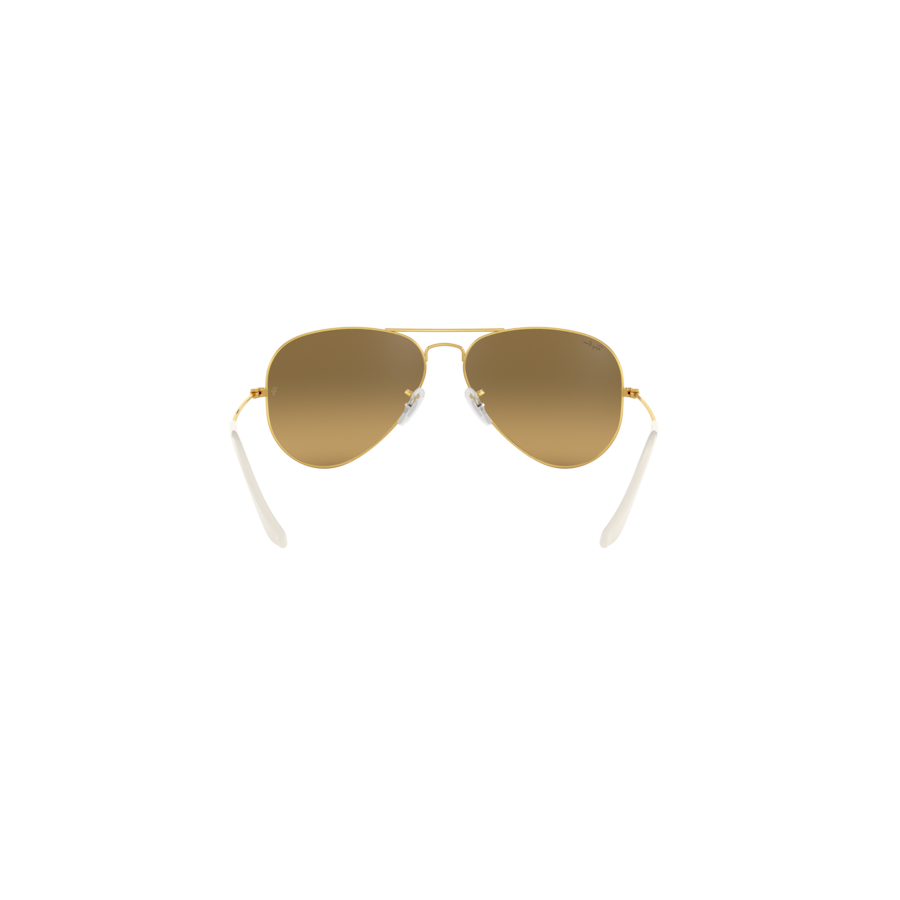 RB3025 AVIATOR LARGE METAL 001/3K GOLD CRY. BROWN MIRROR SILVER GRAD.
